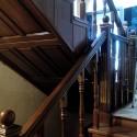 Деревянные столбы для лестниц