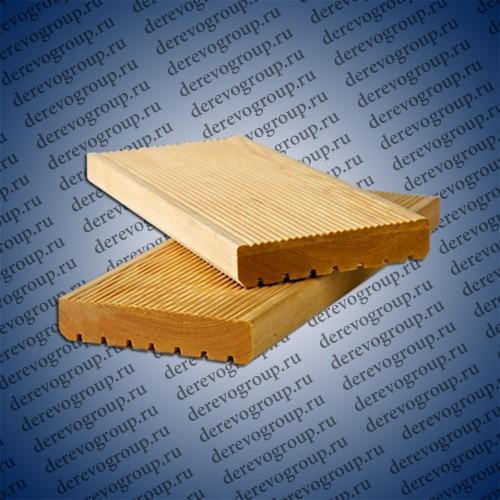 Террасная доска из лиственницы 28x120x2-4 м.