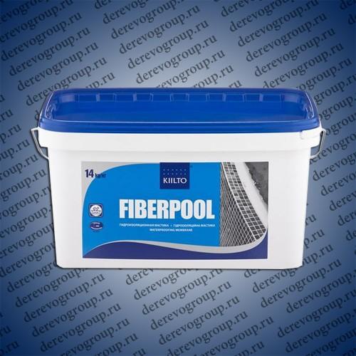 Гидроизоляционная мастика KIILTO Fiberpool 14 кг