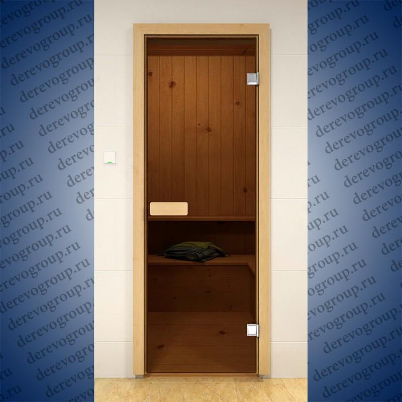 Двери для бани  стекло